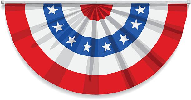 Bandeira do EUA em vetor Bunting - ilustração de arte em vetor