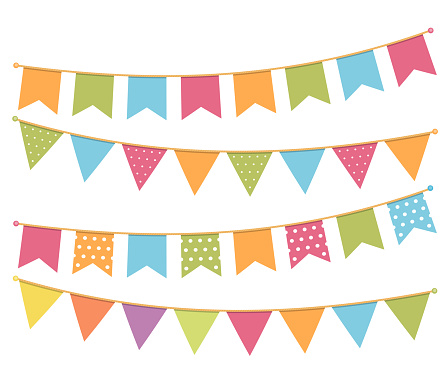 Bunting stock illustrations