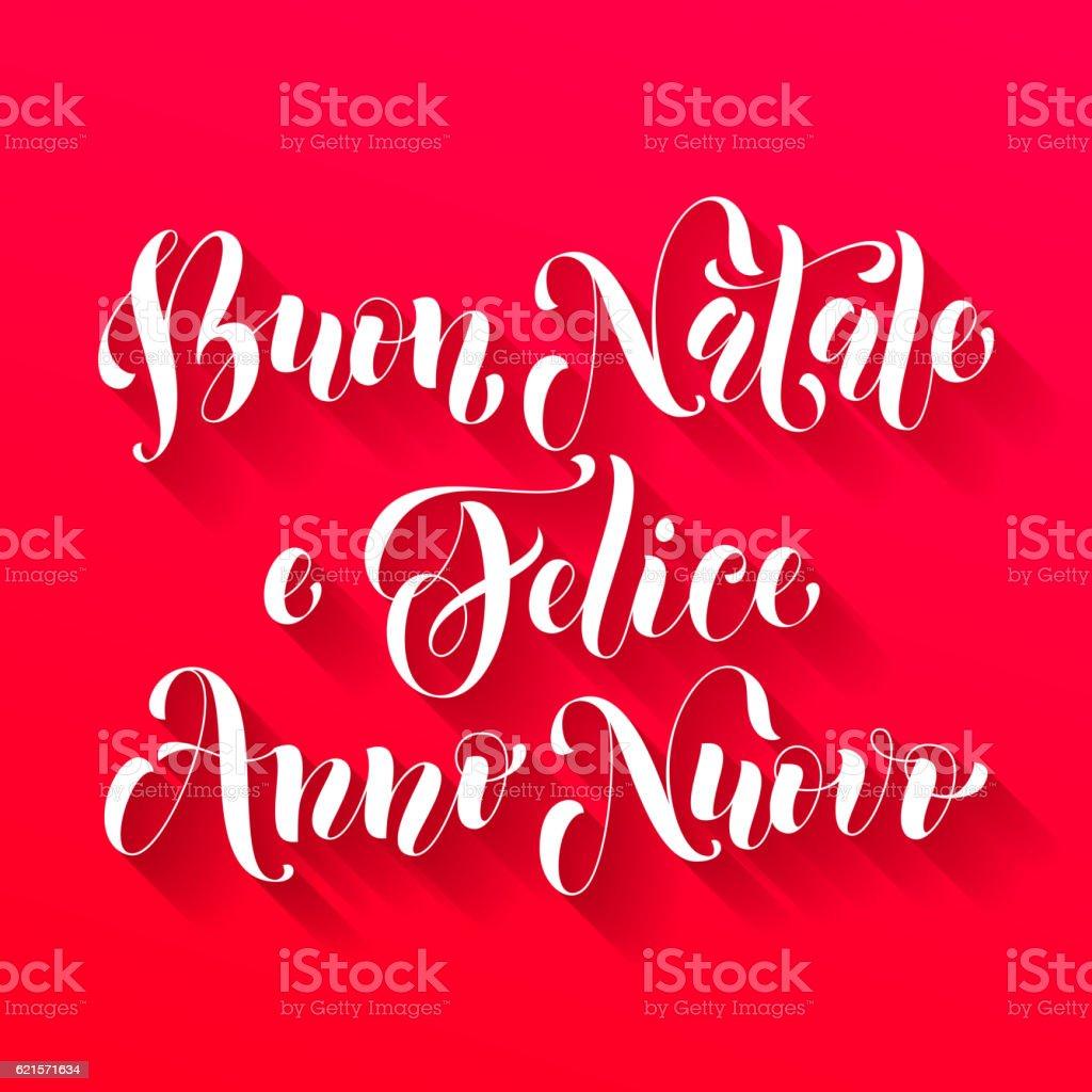 Buon Natale, Felice Anno Nuovo italian greeting buon natale felice anno nuovo italian greeting – cliparts vectoriels et plus d'images de affiche libre de droits