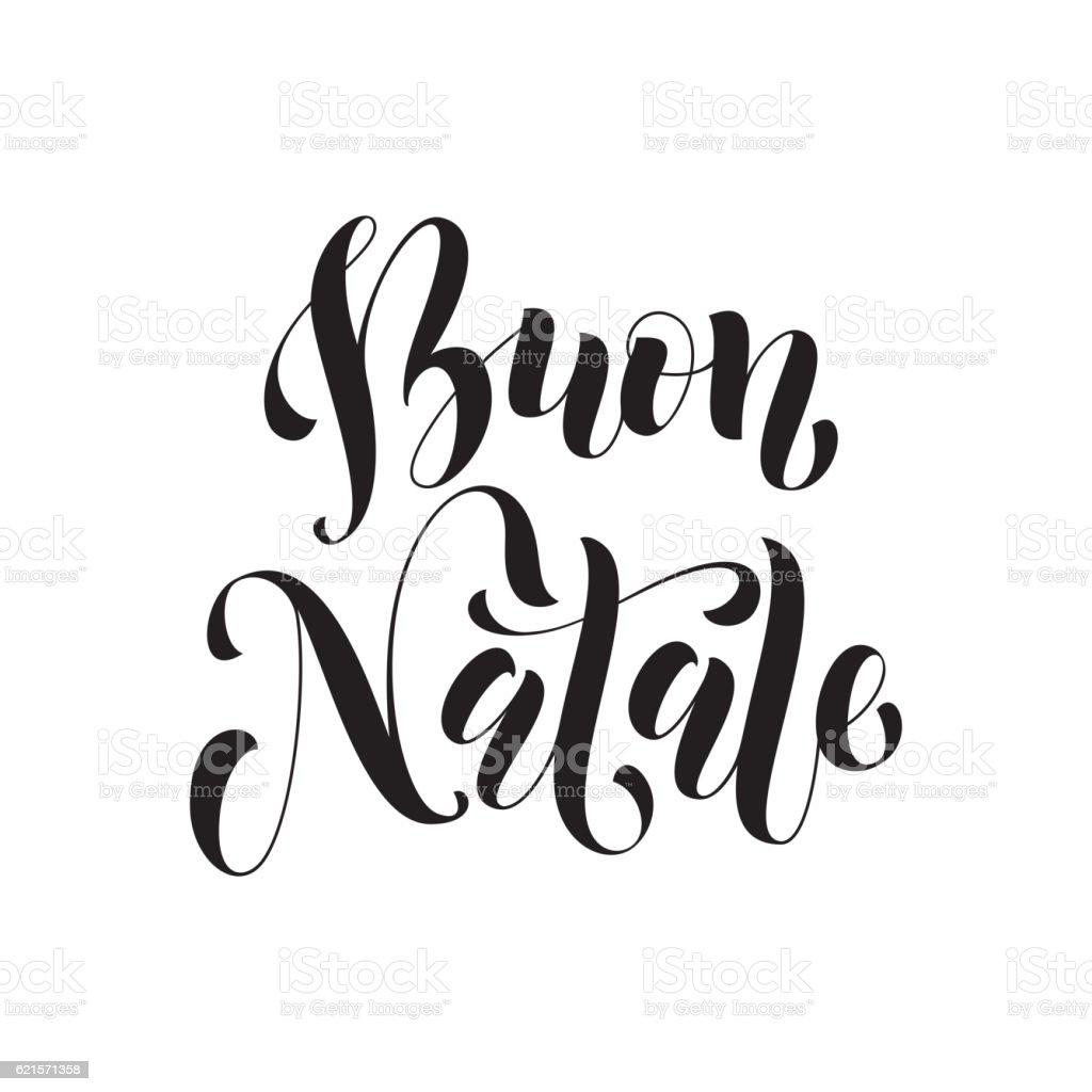 Buon Natale greeting. Italian Merry Christmas buon natale greeting italian merry christmas – cliparts vectoriels et plus d'images de affiche libre de droits
