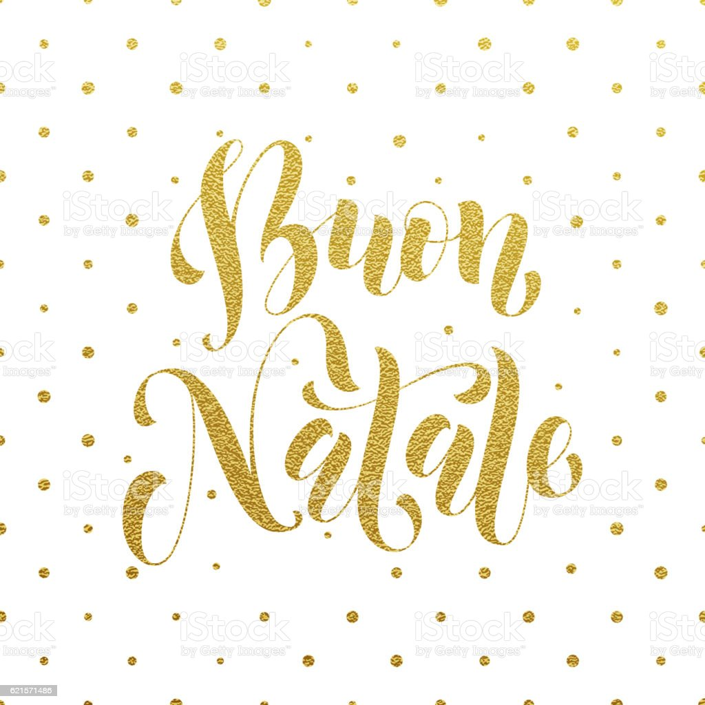 Buon Natale Greeting Italian Merry Christmas Stock Vector Art & More ...
