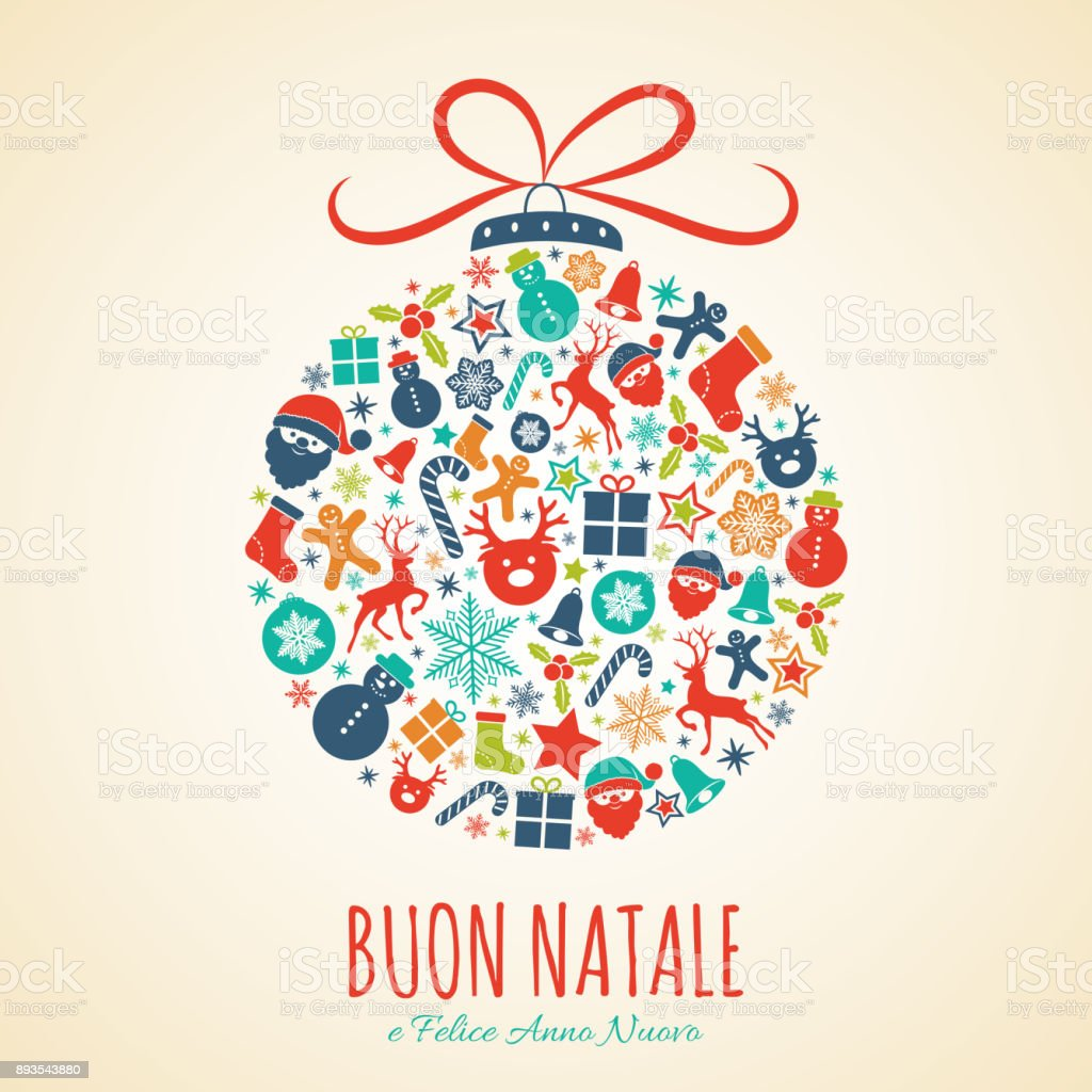 Merry Christmas In Italian.Buon Natale Merry Christmas In Italian Concept Of Christmas