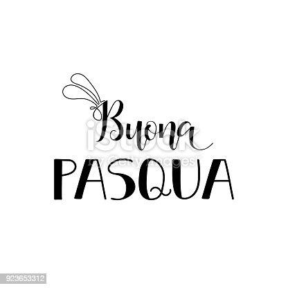 istock Buona Pasqua. Lettering. Translation from Italian: Happy Easter 923653312