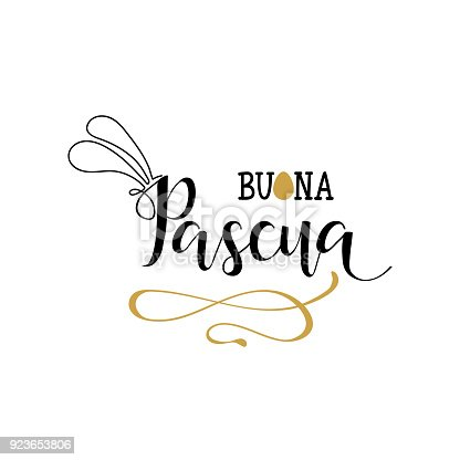 istock Buona Pasqua. Lettering. Translation from Italian: Happy Easter 923653806