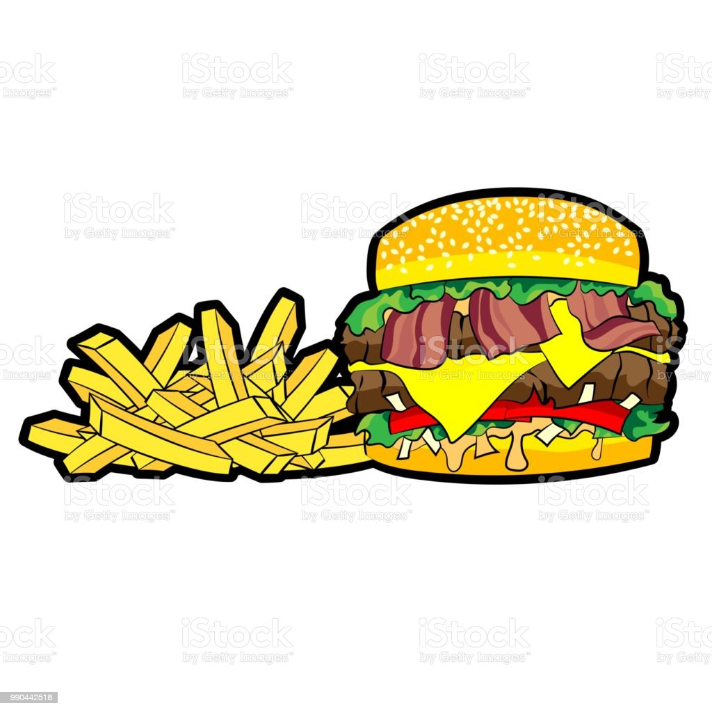 Cartoon Burger Fries Png, Cartoon Burger Fries, Burger, French Fries PNG  Transparent Clipart Image and PSD File for Free Download