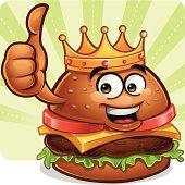 Burger Cartoon - Thumbs Up