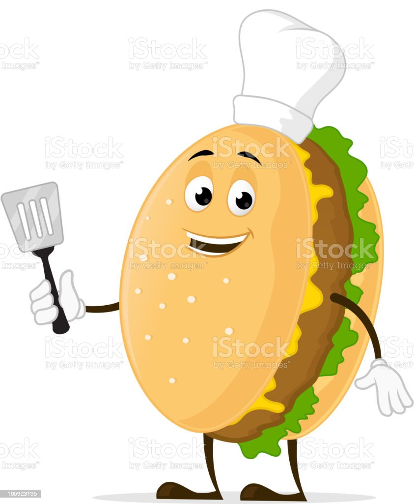 Burger Chef royalty-free stock vector art
