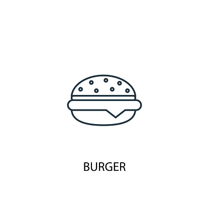 burger concept line icon. Simple element illustration. burger concept outline symbol design from Food set. Can be used for web and mobile UI/UX