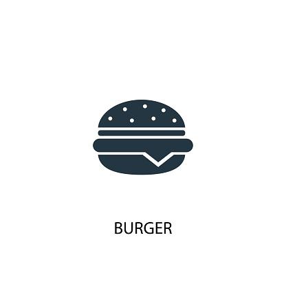 burger creative icon. Simple element illustration