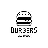 istock Burger Fast Food Logo Template 1205449806