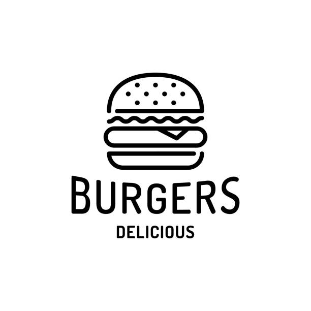 stockillustraties, clipart, cartoons en iconen met burger fast food logo template - hamburgers