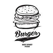 Burger Fast food. Logotype