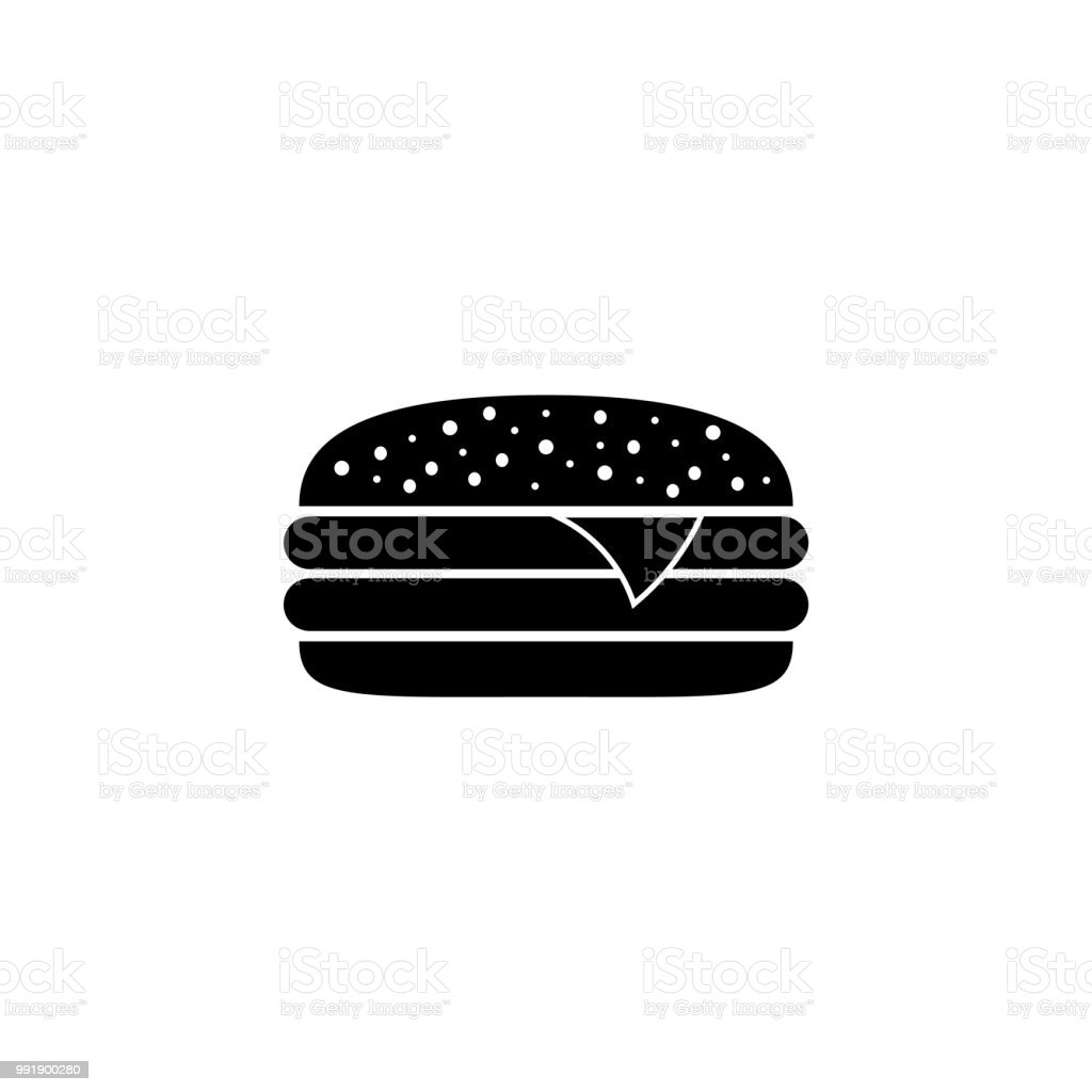 burger icon - Illustration vector art illustration