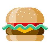 istock Burger Icon on Transparent Background 1282909289
