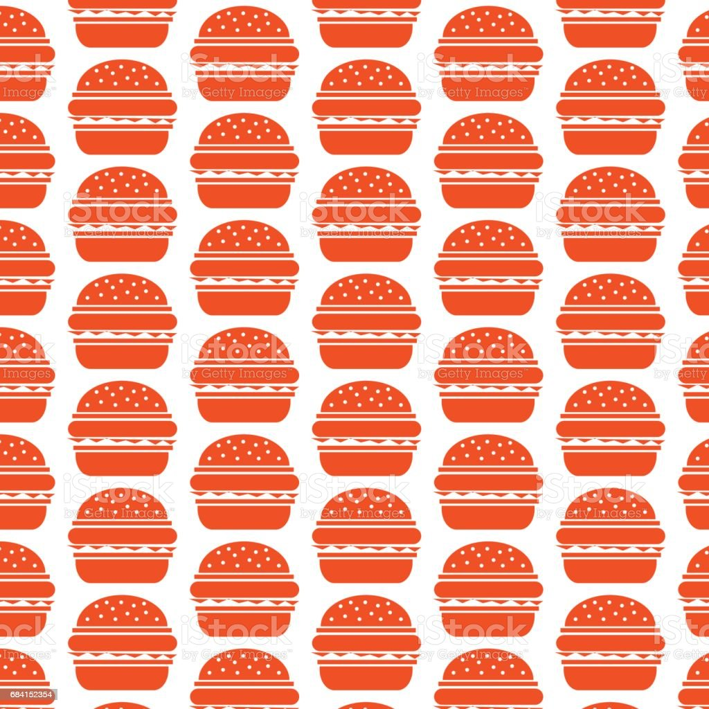 Burger icon pattern background burger icon pattern background - stockowe grafiki wektorowe i więcej obrazów abstrakcja royalty-free