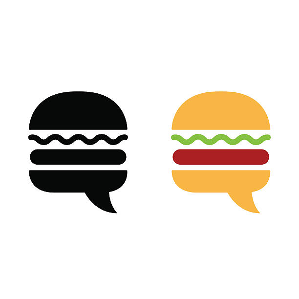 burger-symbol symbol - hamburger schnellgericht stock-grafiken, -clipart, -cartoons und -symbole