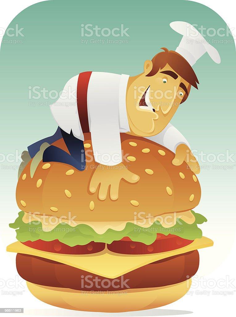 Гамбургер lover - Векторная графика Бургер роялти-фри