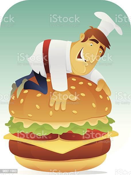 Гамбургер Lover — стоковая векторная графика и другие изображения на тему Бургер