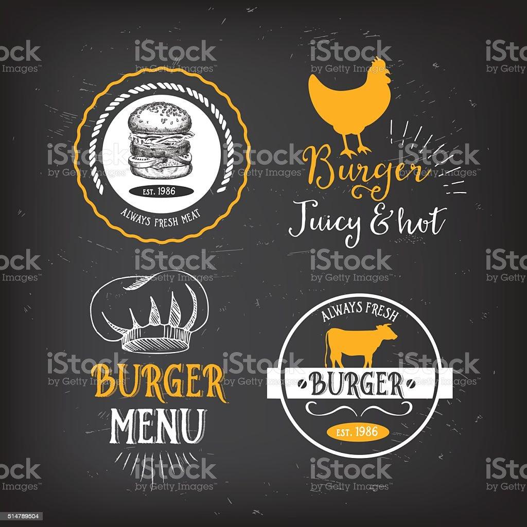 Tarjetas Hamburguesa De Menú De Restaurante Plantilla De Diseño De ...