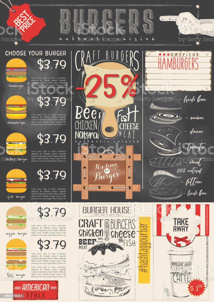 Burger Menu Template royalty-free burger menu template stock vector art & more images of advertisement