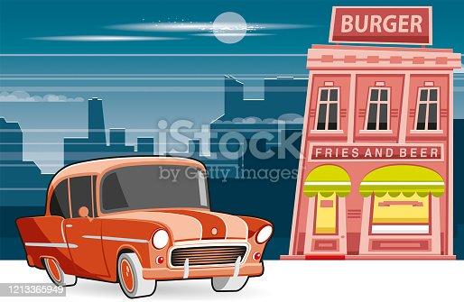 istock Burger restaurant 1213365949