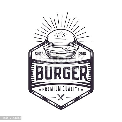 Burger logo design for a modern burger joint.