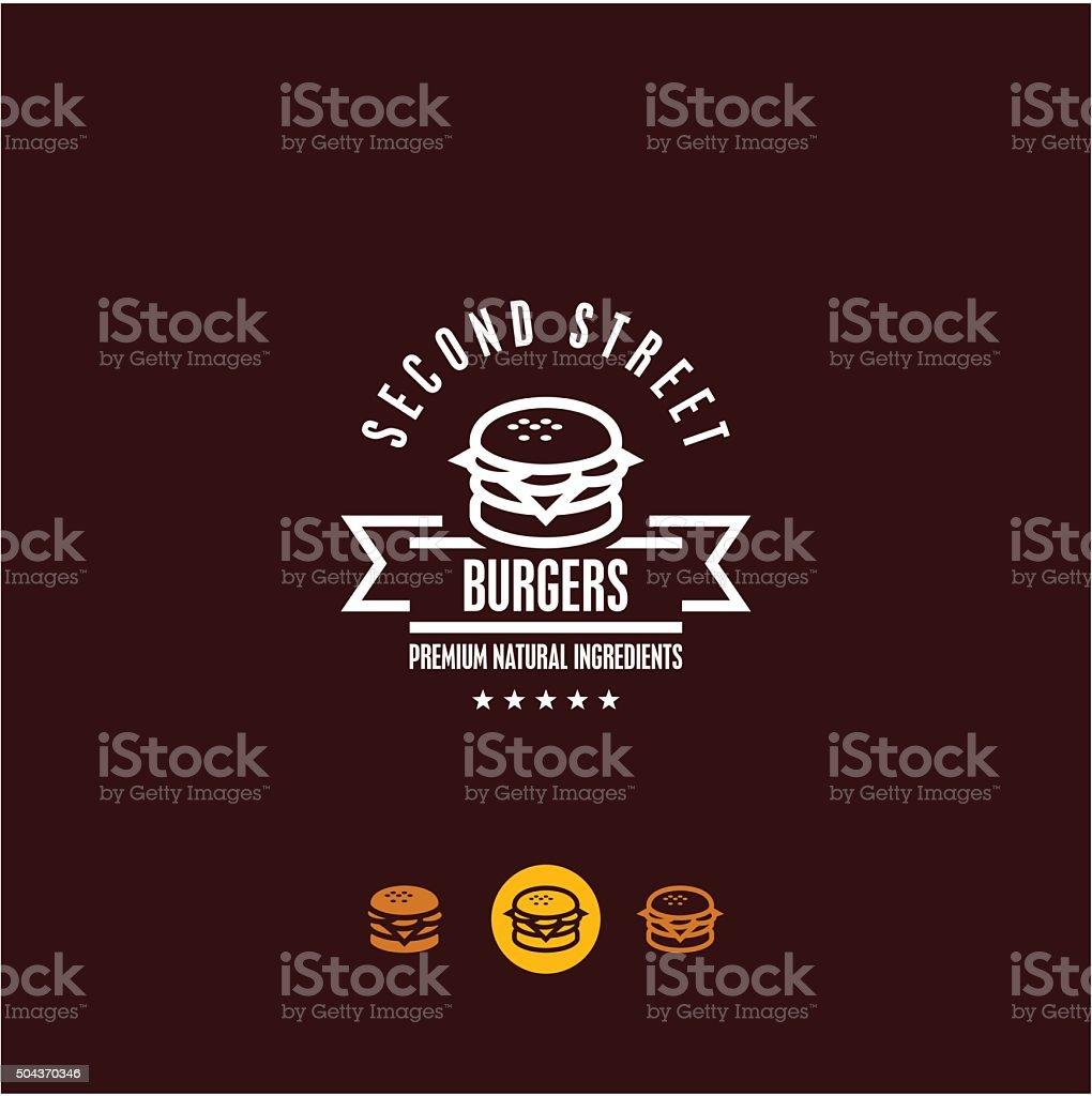 burger vector art illustration