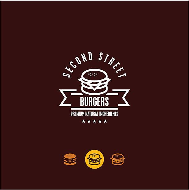 burger burger icons. fast food. snacks. cheeseburger stock illustrations