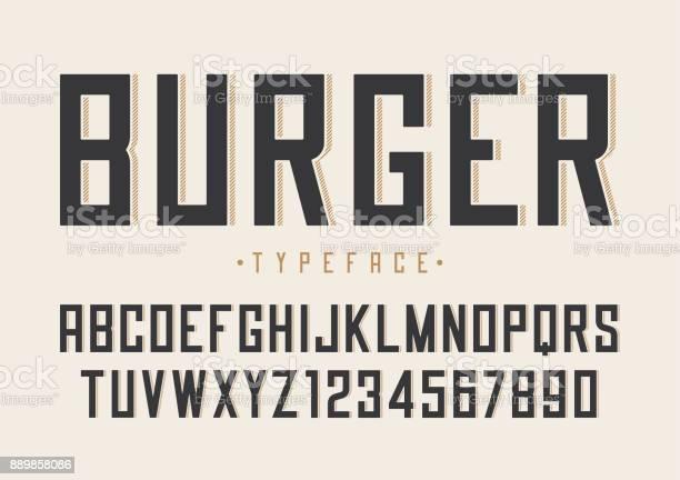 Burger vector retro regular font design alphabet typeface typ vector id889858086?b=1&k=6&m=889858086&s=612x612&h=v6gvwfxzuf3pkw383wwwm5bpwqhafmlac4v9bzqoeug=
