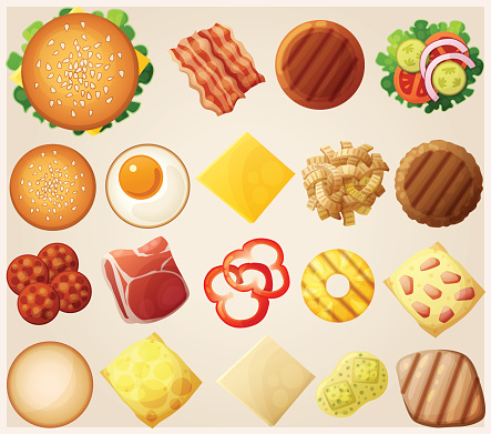 Burger stock illustrations