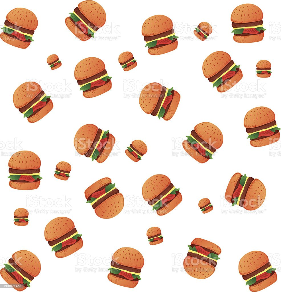 Burgers Wallpaper royalty-free stock vector art