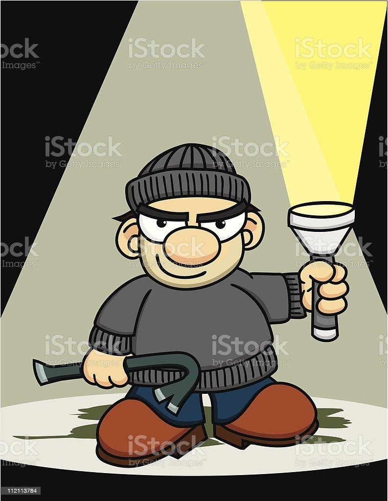 Burglar with a Flashlight royalty-free burglar with a flashlight stock vector art & more images of burglar