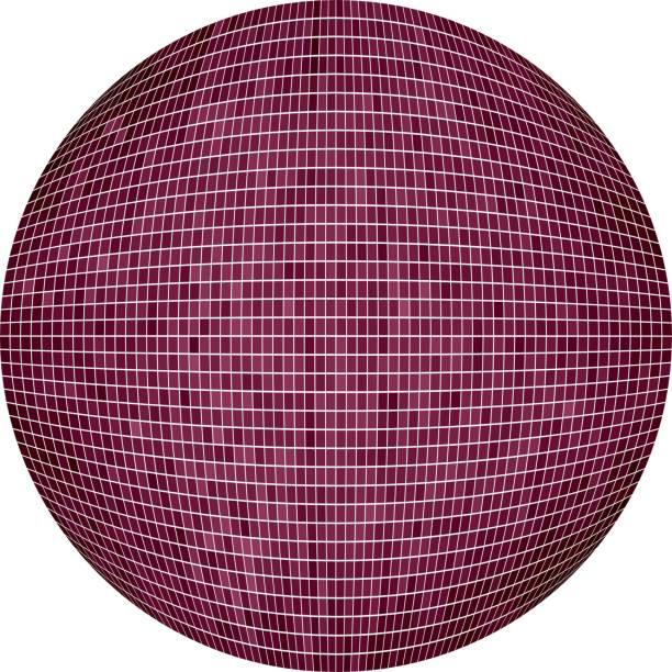 burgund-ball in mosaik - alpenveilchen stock-grafiken, -clipart, -cartoons und -symbole