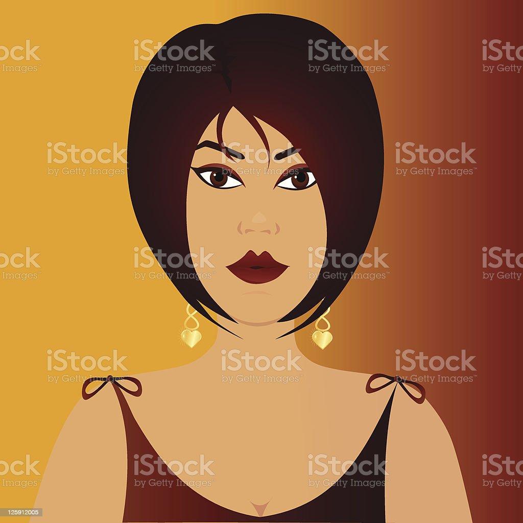Burgundy Beauty royalty-free stock vector art