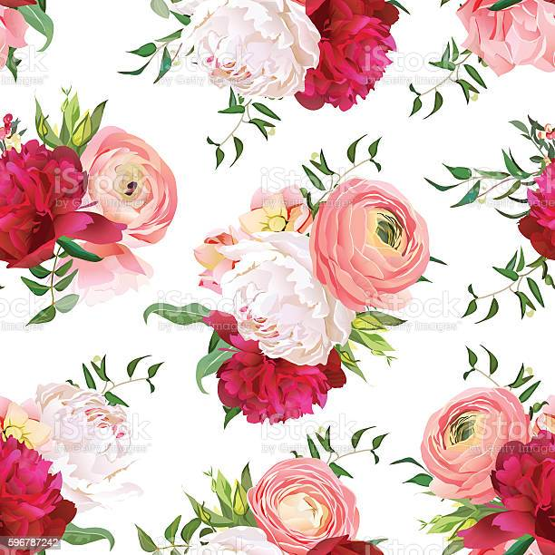 Burgundy red and white peonies ranunculus rose seamless vector vector id596787242?b=1&k=6&m=596787242&s=612x612&h=jxdtv9ecrp6wi9als5s2 hiy9r i0hzymethhjcenay=
