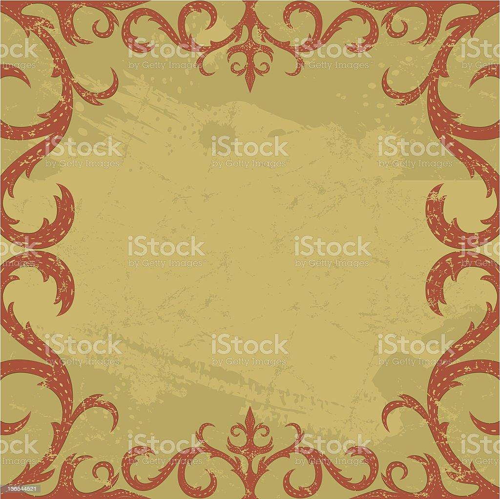 Burgundy scrolls royalty-free stock vector art