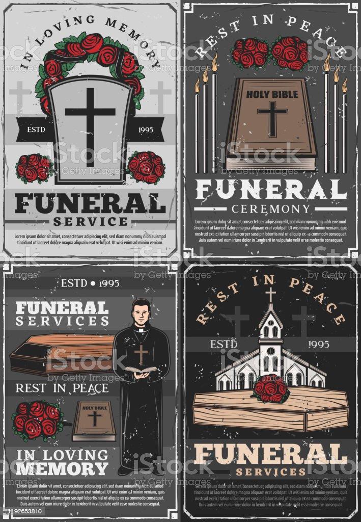 埋葬式教会司祭 葬儀 - イラストレーションのベクターアート素材や画像 ...