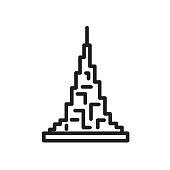burj khalifa icon isolated on white background