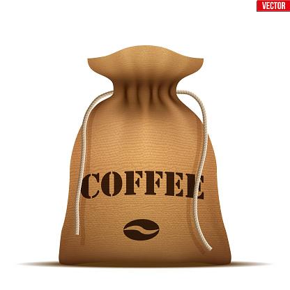 Burlap sack with Coffee.