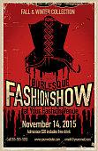Burlesque fashion show poster design template
