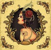 Sexual burlesque woman. Eps8