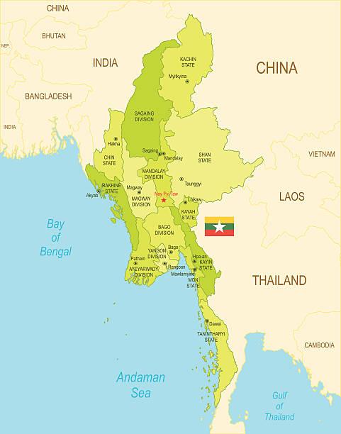 Birma – Vektorgrafik
