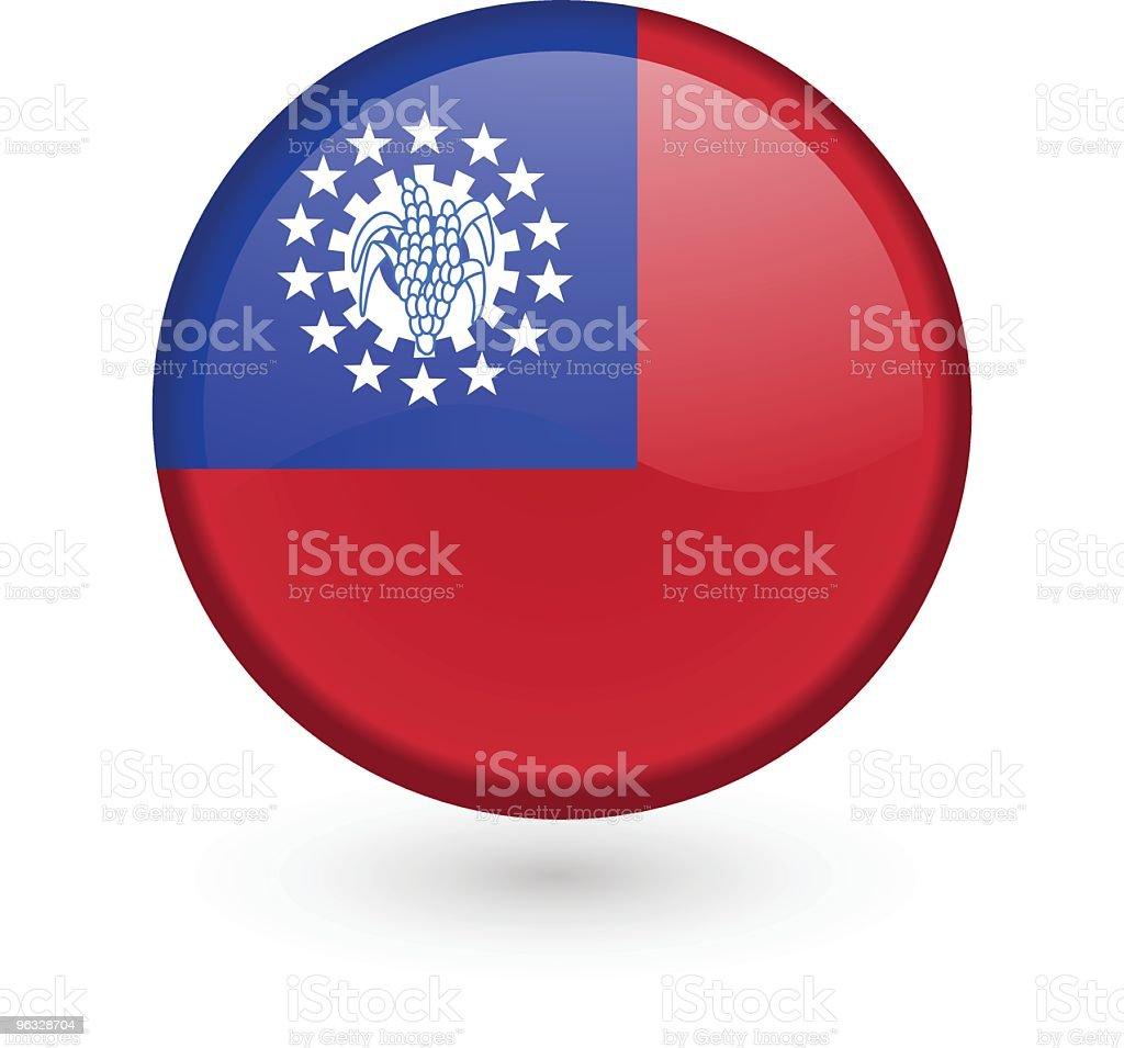 Burmese flag vector button royalty-free stock vector art