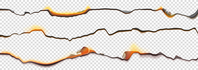 Burn paper borders, burnt page smoldering edges