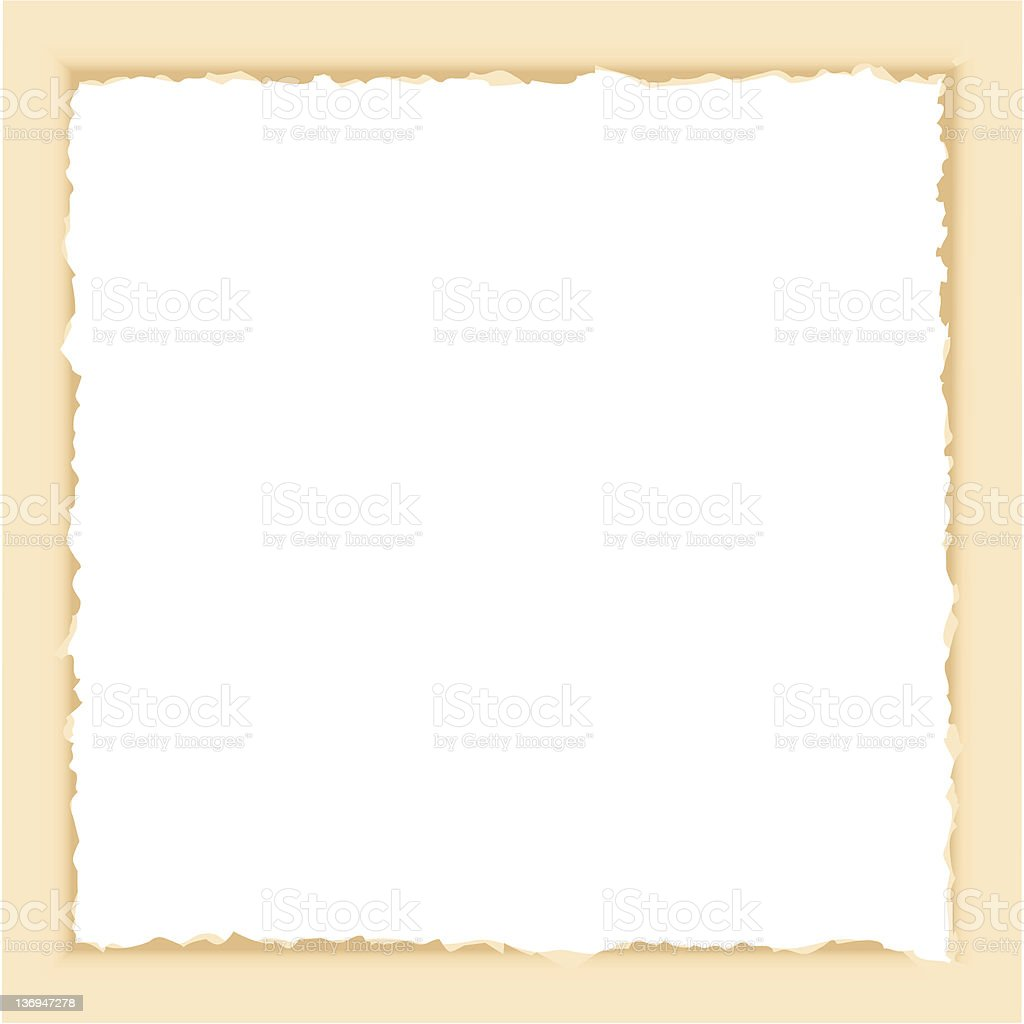 Burned Border -Vector royalty-free stock vector art