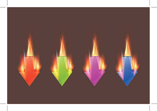 Burnin download icons stock photo