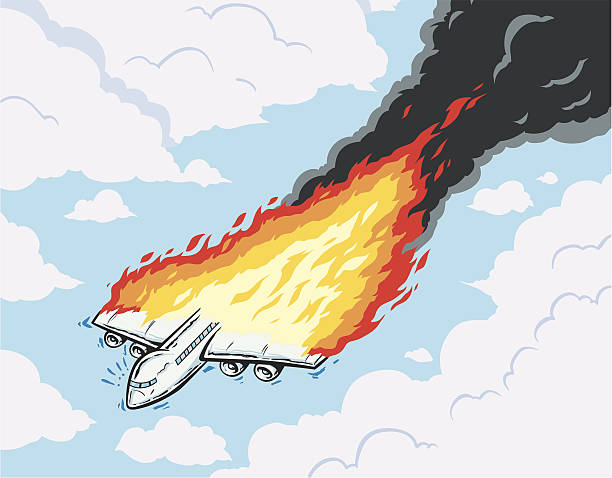 Royalty Free Airplane Fire Clip Art, Vector Images ...