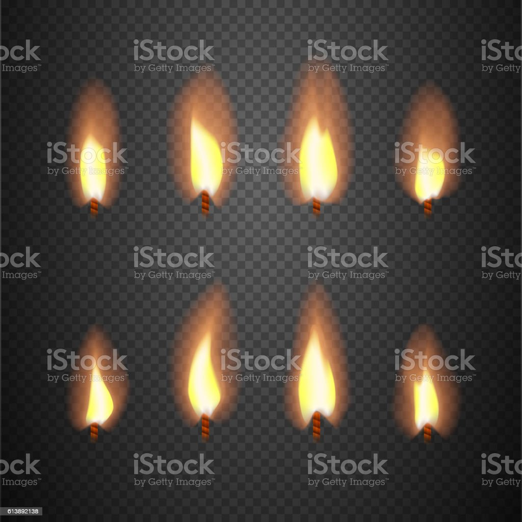 Best Burning Candle Flame Animation Vector Frames Stock Vector Art  DX56