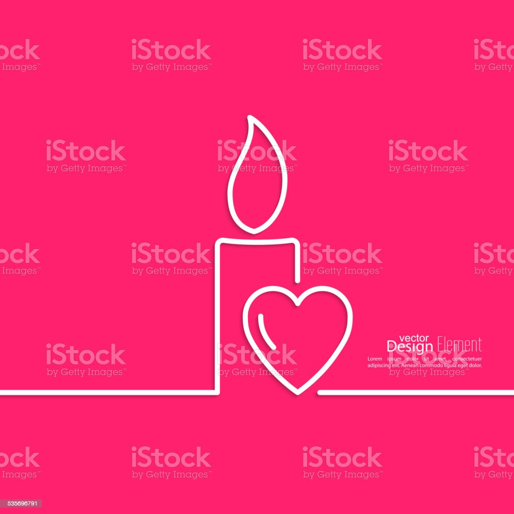 Burning candle vector art illustration