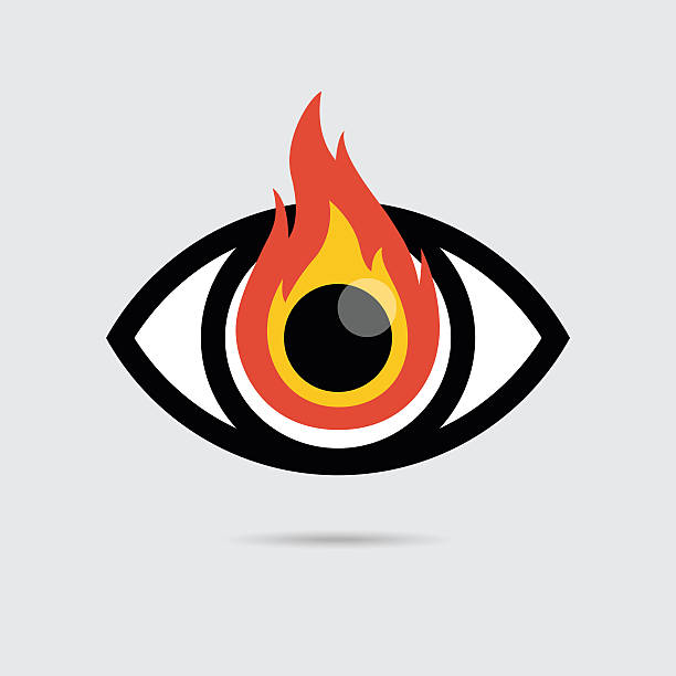 Royalty Free Fire Eyes Clip Art Vector Images Illustrations Istock